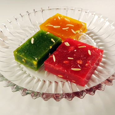 Bombay Halwa in 3 different colur flavours